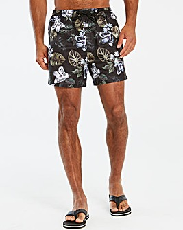 Jacamo Floral Printed Swim Short