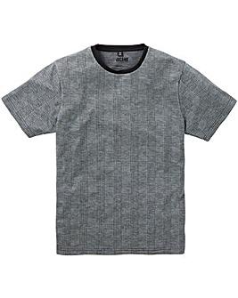 Jacamo Premium Check Jacquard T-Shirt R