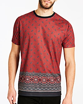Printed Border T-Shirt