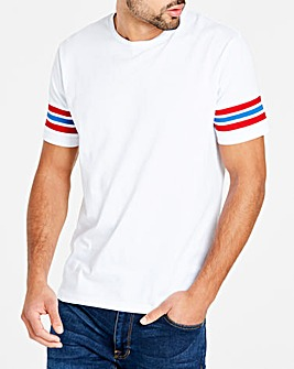 Stripe Sleeve T-Shirt
