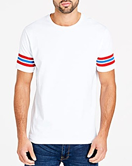 Jacamo Stripe Sleeve T-Shirt Long