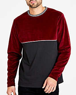 Velour Block L/S T-Shirt