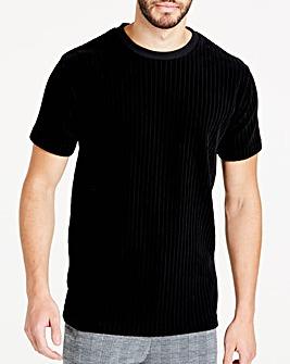 Ribbed Velour T-Shirt
