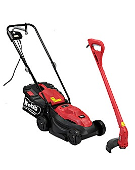 Webb Dynamic 32cm Corded Rotary Mower and 280W Line Trimmer