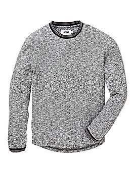Jacamo Ribbed LS Tipped T-Shirt Reg