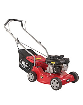 Webb Dynamic 39cm Hand Push Petrol Lawnmower with Polydeck