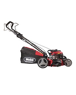Webb Dynamic 46cm Self Propelled Petrol Lawnmower with Metal Deck