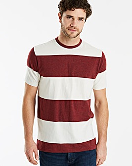 Jacamo Block Stripe T-Shirt Long