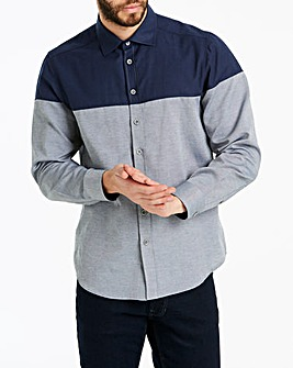 Jacamo Colour Block L/S Shirt Long
