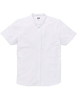 Pique Grandad Collar Shirt Long