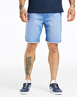 Blue Wash Denim Shorts