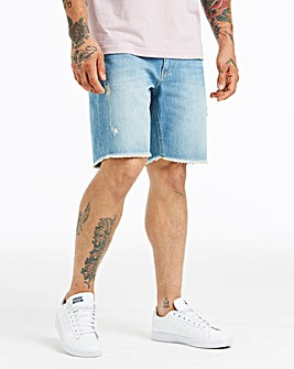 Jacamo Raw Hem Denim Shorts