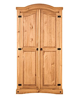 Corona Solid Pine 2 Door Wardrobe