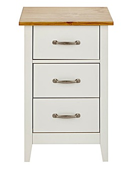 Somerset 3 Drawer Bedside Table