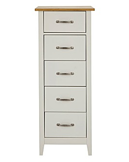 Somerset 5 Drawer Narrow Chest