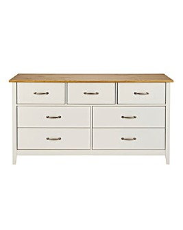 Somerset 3+4 Drawer Wide Chest