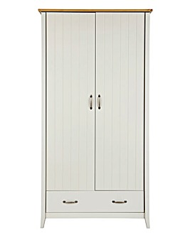 Somerset 2 Door 1 Drawer Wardrobe
