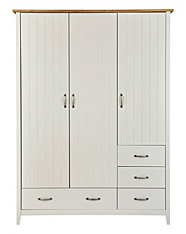 Somerset 3 Door 4 Drawer Wardrobe