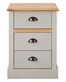 York 3 Drawer Bedside Table