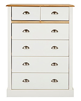 York 2+4 Drawer Chest