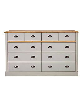 York 4+6 Drawer Chest