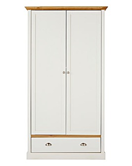 York 2 Door 1 Drawer Wardrobe