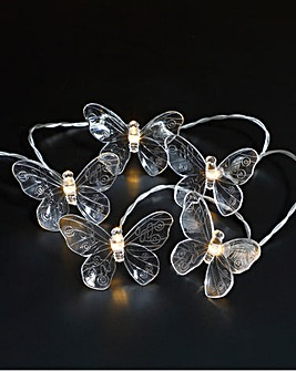 20 Butterfly Solar String Lights