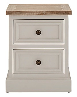 Ashdawn Assembled 2 Drawer Bedside Table