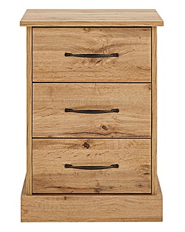 Hartland 3 Drawer Bedside Table