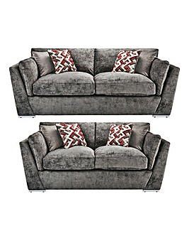 Rubix 3 Plus 2 Seater Sofa