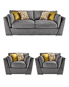 Rubix 3 Seater Sofa plus 2 Chairs