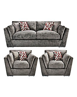 Rubix 3 Seater Sofa plus 2 Chairs