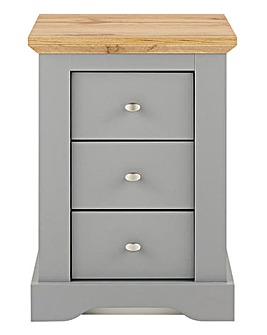 Hampton 3 Drawer Bedside Table