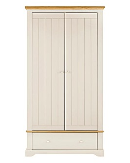 Hampton 2 Door 1 Drawer Wardrobe
