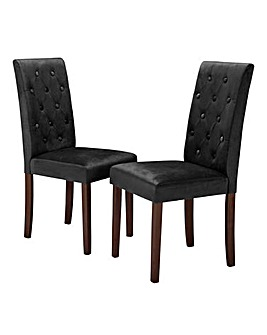 Grace Velvet Pair of Chairs