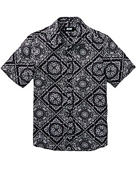 Jacamo Printed S/S Shirt Regular