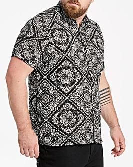 Jacamo Printed Short Sleeve Shirt Regular