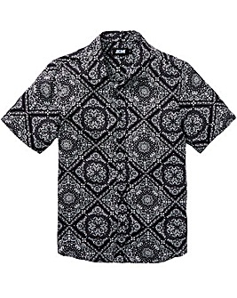 Jacamo Printed S/S Shirt Long