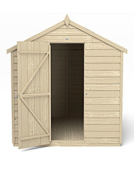 Forest Overlap Dipped 8x6 Apex Shed with No Window