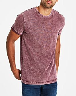 Washed Muscle Fit T-Shirt Long