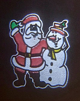 Animated Projector- Santa and Snowman