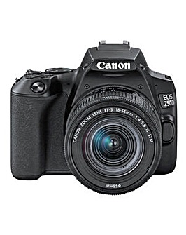 Canon EOS 250D DSLR Camera Body with 18-55mm IS Lens - Black