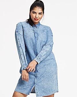 dd6dbe461c Acid Wash Denim Shirt Dress