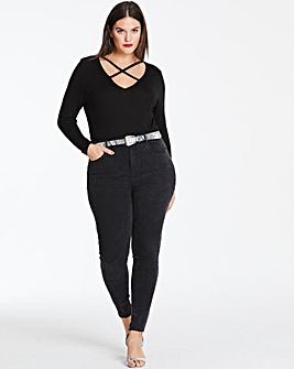 Black Acid Chloe High Waist Skinny Jeans
