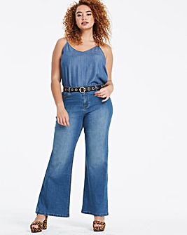 Blue Everyday Wide Leg Jeans
