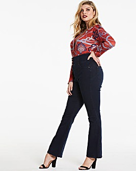 Indigo Shape & Sculpt Extra High Waist Bootcut Jeans Regular Length