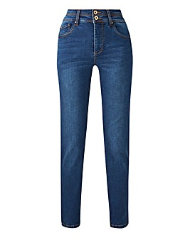 Blue Shape & Sculpt Straight Leg Jeans