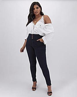 Dark Indigo Shape & Sculpt Skinny Jeans