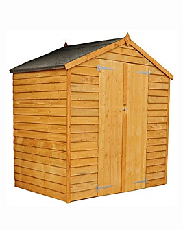 6x4 Apex Overlap Shed with Double Doors