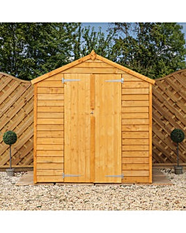 Mercia 6x4 Overlap Value Shed with Double Doors